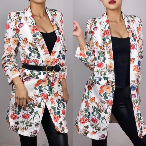 SACOU CU PRINT FLORAL LUNG -TRY55